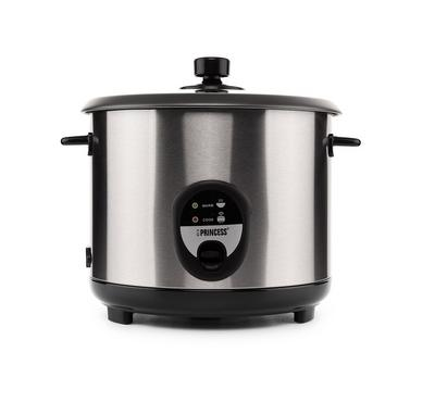 Princess Rice Cooker. 2.2L, Stainless Steel Housing,Grey