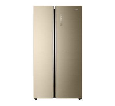 Haier SBS Refrigerator, 17.9 Cuft.,Golden Glass