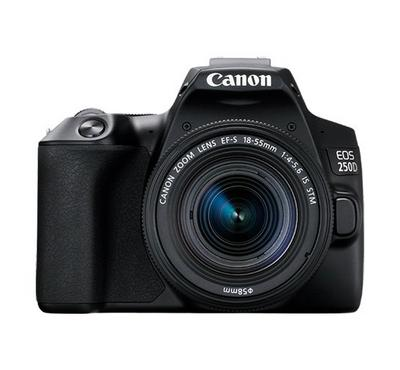 CANON EOS 250D 18-55, 24MP, 1 over 4000 Shutter Speed, Wi-Fi, ISO 100-25600, Auto Focus 5fps