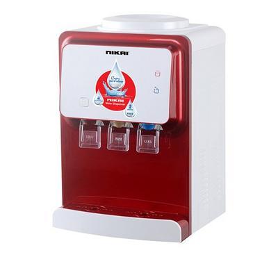 Nikai 3 Tap Table Top Water Dispenser White