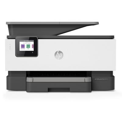 HP OfficeJet Pro 9013 AIO Printer, White/Grey, Print, Copy, Scan, Fax, Wi-Fi