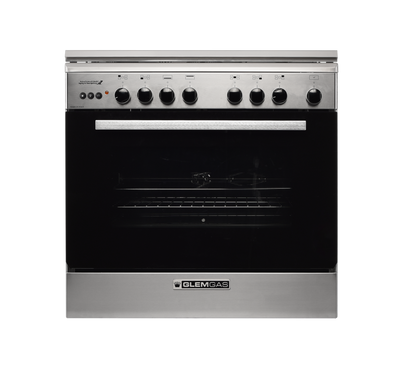 Glem Gas Cooker Size 80X50, 5 GB, Button Spark Ignition,Stainless Steel
