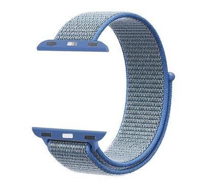 Promate Nylon Mesh Strap for 42mm/44MM Apple Watch, Blue