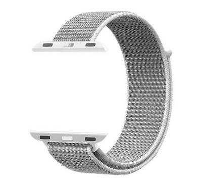 Promate Nylon Mesh Strap for 42mm/44MM Apple Watch, White
