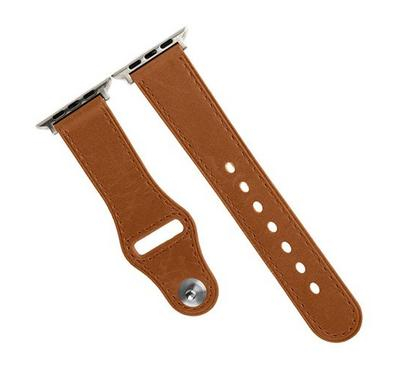 Promate Genuine Leather Strap 42mm/44MM Apple Watch, Brown