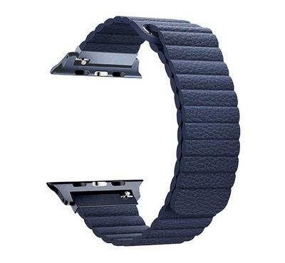 Promate Fiber Strap for 42mm/44MM Apple Watch, Blue
