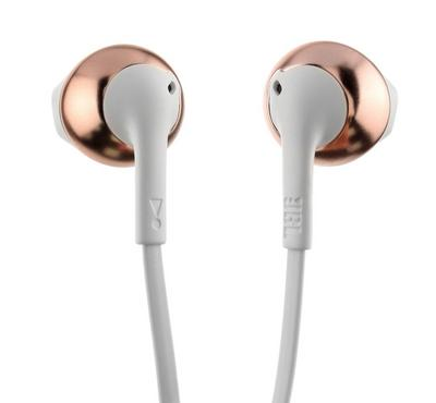 JBL earbuds Wired Headphone T205, Rose Gold