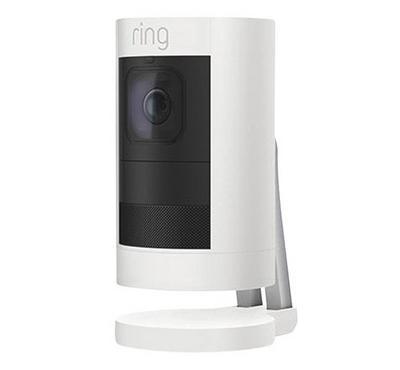 رينج كاميرا مراقبة ببطارية، أبيض