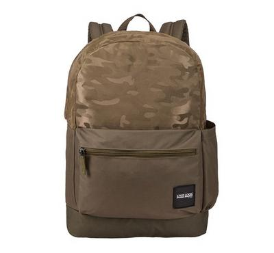 CASE LOGIC Founder Backpack, Olive night/Brown,15 inch