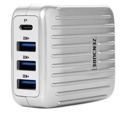 Zendure A Series 4 Ports, 30W, Wall Charger with PD, Silver