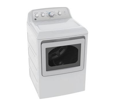 GE Clothes Dryer, 7 kg, 4 Knobs, 4 Dry Cycles, White Color, XL Glass Door