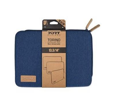 Port Torino Skin 13.3 inch Sleeve Case Blue with Mouse