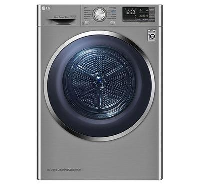 LG Dryer, 9kg, Sensor Dry, Dual Inverter, Steel Silver
