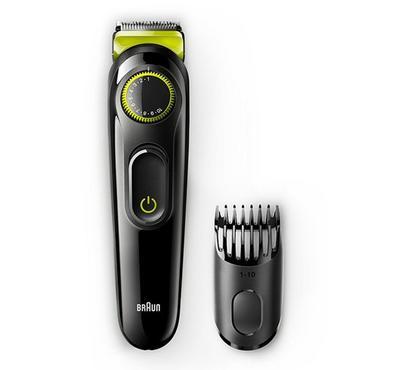 Braun Rechargeable Beard Trimmer Wet&Dry Volt Green/Black