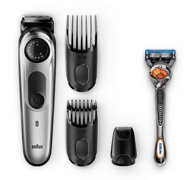 Braun Rechargeable Beard Trimmer + Gillette Fusion5 Razor