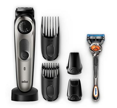 Braun Rechargeable Beard Trimmer +Gillette Fusion5 Razor