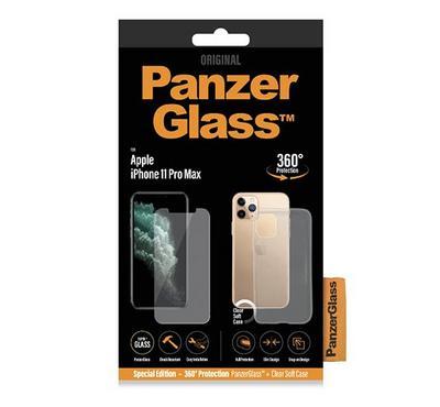 PanzerGlass Apple iPhone iPhone 11 PRO MAX 2019 Bundle (Standard fit + Clear TPU Case)