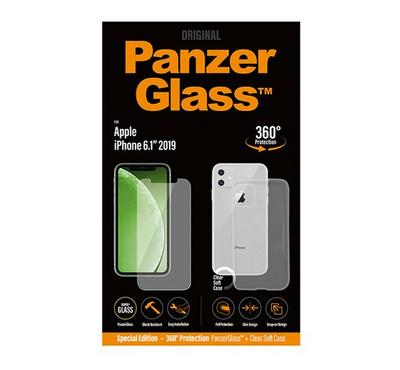 PanzerGlass Apple iPhone 11 Bundle (Standard fit + Clear TPU Case