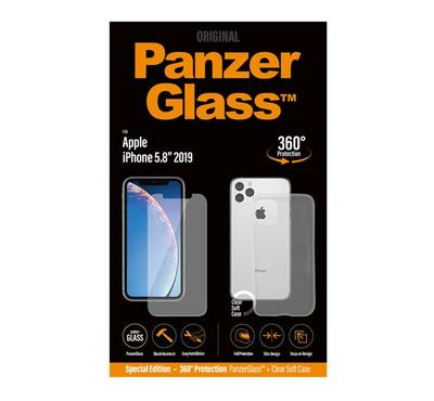 PanzerGlass Apple  iPhone 11 PR Bundle (Standard fit + Clear TPU Case)