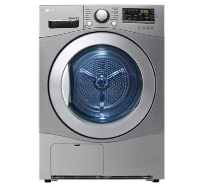 LG Dryer 7kg, Condensing Type, Sensor Dry, Smart Diagnosis, 9 Programs, Stone Silver