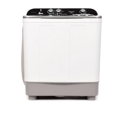 Candy Twin Tub Semi Automatic Washing Machine, 10Kg,White-Grey