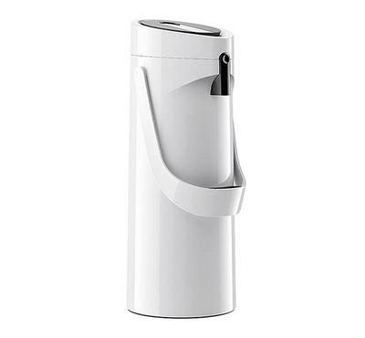 Emsa PONZA 1.9L Pump Vacuum Flask Jug Plastic White