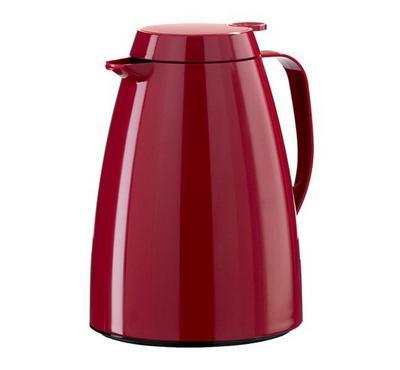 BASIC Emsa, 1.5L Vacuum Flask Jug Plastic, Dark Red