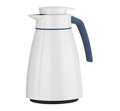 Emsa BELL 1.0L Vacuum Flask Jug Stailess Steel Blue/White