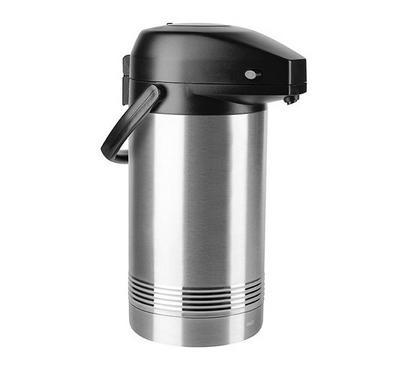 Emsa PRESIDENT 3L Pump Vacuum Flask Jug Black/Stainless