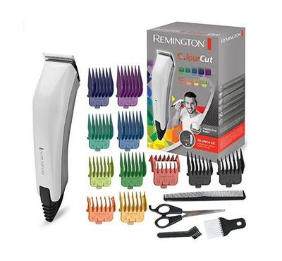Remington COLOURCUT Corded Hair Clipper 16pcs Kit White