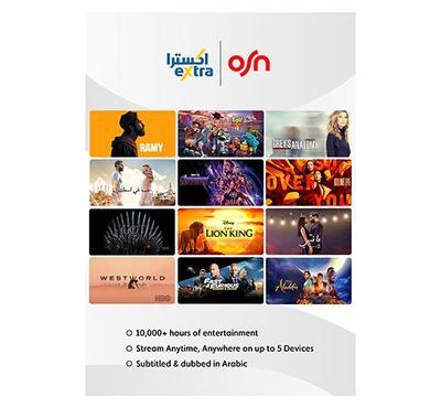 OSN Streaming App Subscription , 6 months Voucher.