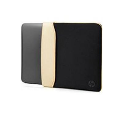 "HP 14.0"" Reversible Sleeve – Black/Gold"