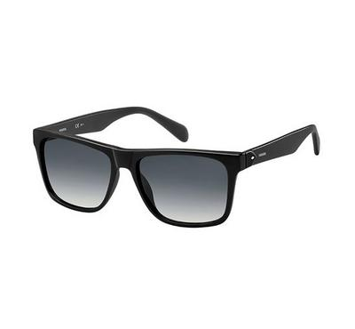 Fossil Sunglass for man rectangular matte black with grey lens