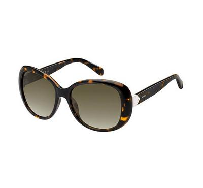 Fossil Sunglass woman oval hawana with Brown lens