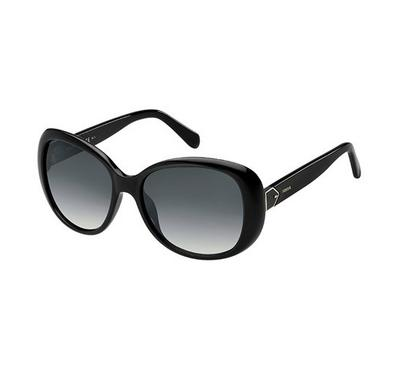فوسيل، نظارة شمسية، إطار أسود ، عدسة رمادي غامق