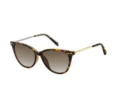 Fossil Sunglass woman Cat-eye  hawana with Brown lens