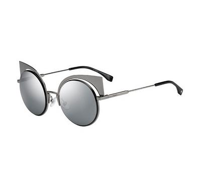 Fendi Sunglass for   woman  round silver with  silver  lens