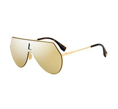 Fendi Sunglass  for man   round Aviator Gold