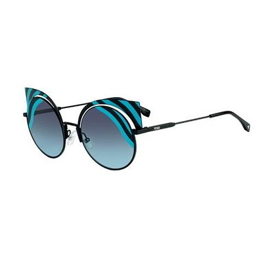 Fendi Sunglass for  round man  Aviator Gold