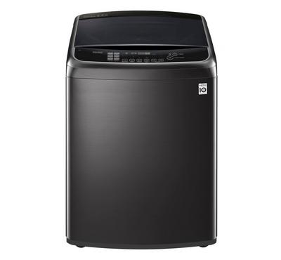 LG Washing Machine, 19kg, Smart Top Load, Black Steel
