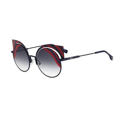 Fendi Sunglass  man round black /Grey