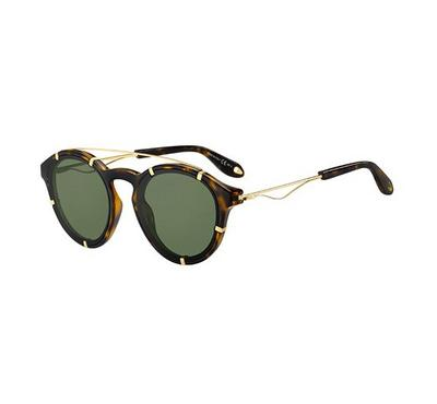 Givenchy Sunglass  unisex round   hawana with Green lens