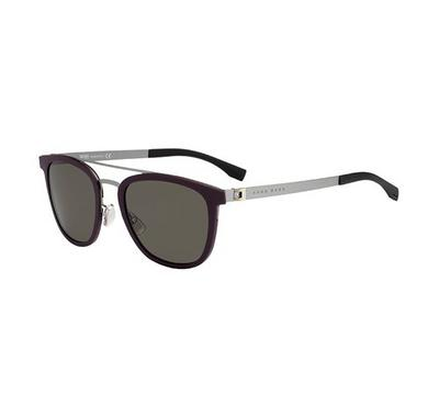 Hugo boss Sunglass  Man  rectangular   Burgundy  with Grey  lens