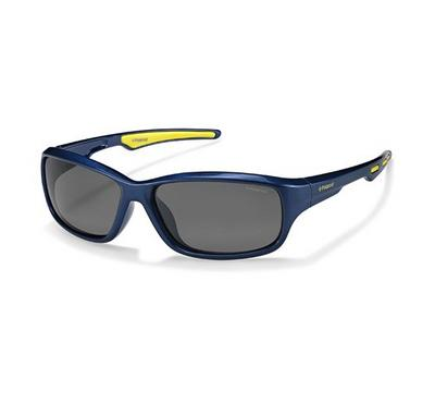 polaroid kids  sunglass for kids rectangular  blue with grey lens