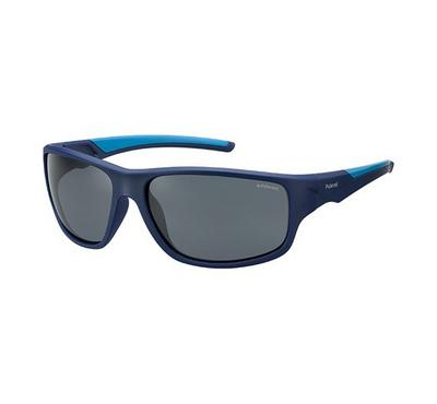 polaroid for man  sunglass for kids rectangular  blue with grey lens