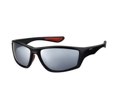 بولارويد، نظارة شمسية، إطار أسود، عدسة رمادي
