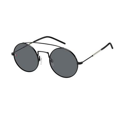 Tommy Hilfiger  sunglass for woman sunglass  round  black with Grey lens