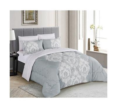Cottage, Comforter King Size 5 Pcs Set-Ciragan Grey