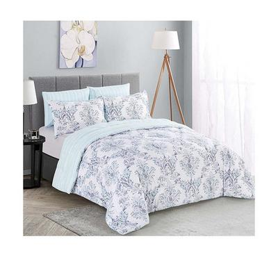 Cottage, Comforter King Size 6 Pcs Set-Emirgan, Blue
