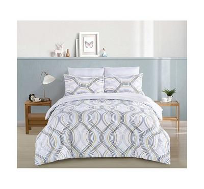 Cottage, Comforter King Size 5 Pcs Set-Balat White